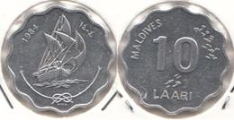 Maldive 10 Laari 1984 KM#70 - Used - Maldives