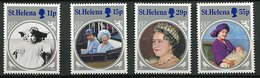 Ste Helene ** N° 416 à 419 - 85 Ans De La Reine-mere Elizabeth - Saint Helena Island