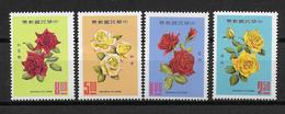 CHINE / FORMOSE - YVERT N° 673/676 ** - COTE = 18 EUR. - FAUNE ET FLORE - ROSES - 1945-... République De Chine