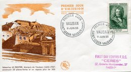 FRANCE 1955 - VAUBAN SAINT LEGER VAUBAN- 11 JUIN 1955 . ST LEGER VAUBAN - FDC