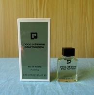"""Miniature  """"PACO RABANNE Pour HOMME"""" De PACO RABANNE Eau De Toilette 5 Ml Dans Sa Boite HAUTE  (M076) - Modern Miniatures (from 1961)"""