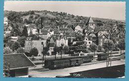 ALLASSAC - Quartier De La Gare Et Tour De César - Photo Véritable Circulé 1956 - Other Municipalities