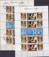 USA-Raumfahrt 1965 Guinea Block 9 O/** 22€ Astronauten Raumstation Kopplung Rakete S/s Blocs Space Sheets Bf Africa - Spazio