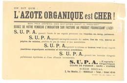 Feuille Publicitaire S.U.P.A. , Engrais Organique, Marseille - L'azote Organique ( Tampon Moutte, Hyères ) - Publicités