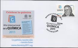 30119. Tarjeta MADRID 2011. Año Internacional De QUIMICA. Marie CURIE - 1931-Hoy: 2ª República - ... Juan Carlos I