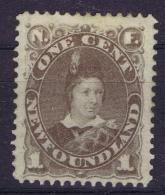 Canada New Foundland  SG 44 MH/* Flz/ Charniere 1880 - Newfoundland