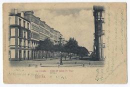 CPA La Coruna Calle Strato De Juana De Vega Esperanto 1901 Rare Cachet Lengua Internaconal Espéranto. - La Coruña