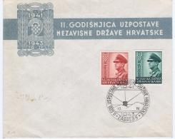 Croatia: 1943 FDC Mi 101 + 102 - Croatia