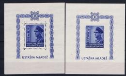 Croatia: 1943 Mi  Bl 4A + 4B  Postfrisch/neuf Sans Charniere /MNH/** - Kroatien