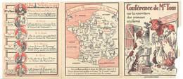 Dépliant 3 Volets - Publicitaire Cuiseur Le Français ... ( Conférence De M. Tom ), Animaux De La Ferme - Publicités