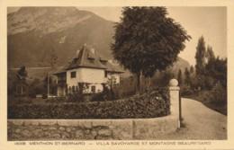 H161 - 74 - MENTHON-SAINT-BERNARD - Haute-Savoie - Villa Savoyarde Et Montagne Beauregard - Autres Communes