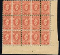 Netherlands: NVPH 92  In Corner Sheet Of 12 Postfrisch/neuf Sans Charniere /MNH/** Some Loose Perforations - Periode 1891-1948 (Wilhelmina)