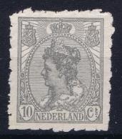 Netherlands: NVPH 83 Met Naaimachinedoorsteek / Roulette Doorsteek Not Used (*) SG 1923  Signed - Periode 1891-1948 (Wilhelmina)