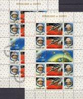 Raumfahrt USSR 1965 Guinea Block 10 **/o 22€ Kosmonauten Raumschiff-Kopplung Rakete S/s Blocs Space Sheets Bf Africa - Spazio