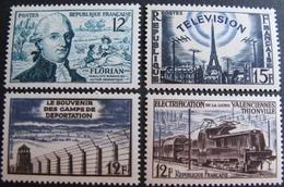 FD/2656 - 1955 - DIVERS - N°1021 à 1024 NEUFS** - France