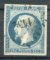 RC 10207 FRANCE N° 10 - 20c BLEU PRÉSIDENCE COTE 45€ TB - 1852 Louis-Napoleon