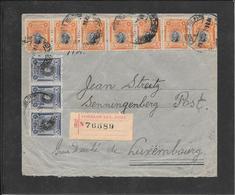 PERU 1921- Lima To Luxembourg Registred Cover( Ref.415) - Pérou