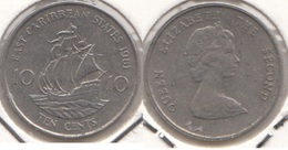 East Caribbean States 10 Cents 1981 Km#13 - Used - Caraibi Orientali (Stati Dei)