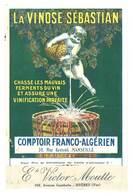 Feuille Publicitaire : La Vinose Sébastian, Comptoir Franco-Algérien, Marseille ( Vinification, Vin, Angelot ) - Publicités