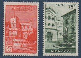 MON 1954  Vues De La Principauté   N°YT 397*398  ** MNH - Monaco