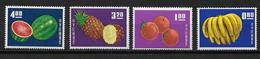 CHINE / FORMOSE - YVERT N° 478/481 ** - COTE = 100 EUR. - FRUITS - 1945-... Republik China