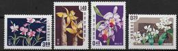 CHINE / FORMOSE - YVERT N° 255/258 * - COTE = 20 EUR. - ORCHIDEES - 1945-... République De Chine
