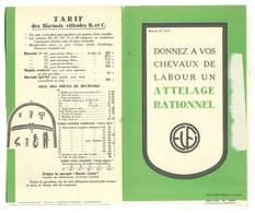 Dépliant Publicitaire Harnais Viticoles R; Et C. / Apiculture , Ruches, Ets Ulysse Fabre, Vaison, ... - Publicités