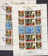 USA-Raumfahrt 1965 Guinea Block 11 **/o 36€ Raketen Gemini 5 Astronaut Overprint English Bloc Space Sheet Bf Africa - Space