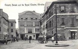 Gibraltar, Gunners Parade And The Royal Theatre (1910s) Postcard - Gibraltar