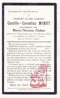 DP Camille C. Minot ° Poperinge 1872 † Veurne 1926 X Maria Th. Clabau - Devotion Images