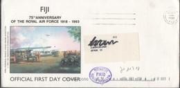 30128. Carta Aerea FIJI 1998. PAID Postmaster, Anniversary Air Force - Fiji (1970-...)