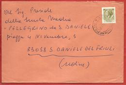 LETTERA VG ITALIA - ORDINARIA Siracusana £ 50 Isolato - 12 X 18 - ANN 1971 AMB TARVISIO VENEZIA - SAN DANIELE DEL FRIULI - 6. 1946-.. Repubblica