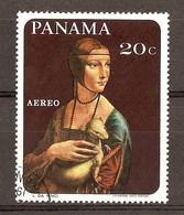 1967 - Tableaux Animaliers - Léonard De Vinci - La Dame à L'Hermine - PA N°435 - Panama
