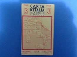 CARTINA GEOGRAFICA PRIMI 900 TOURING C FOGLIO 3 CUNEO TORINO MILANO BRESCIA PARMA GENOVA PUBBLICITÀ PNEUMATICI MICHELIN - Europa