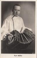KURT MÜLLER - Musiker Ziehharmonikaspieler, Fotokarte. - Musik Und Musikanten