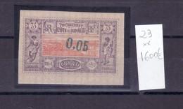 COLONIAS FRANCESAS - DJIBOUTI     SELLO NUEVO CON CHARNEKA  IVERT. 1600€ - Sellos