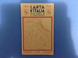 CARTINA GEOGRAFICA 900 TOURING FOGLIO 4 VERONA PADOVA BOLOGNA VENEZIA TRIESTE FIUME POLA PUBBLICITÀ PNEUMATICI MICHELIN - Europa