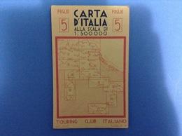 CARTINA GEOGRAFICA PRIMI 900 TOURING FOGLIO 5 SAVONA SPEZIA PISA LIVORNO LUCCA PUBBLICITÀ PNEUMATICI MICHELIN - Europa
