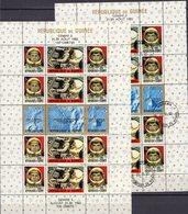 USA Gemini 5 Raumfahrt 1965 Guinea Bl.12 **/o 36€ Raumschiff Rakete Overprint Francais Bloc Space Sheets Bf Africa - Spazio