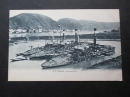 CP ALLEMAGNE (M1818) ST GOAR (2 VUES) Hafenpartie (Bateau) - St. Goar
