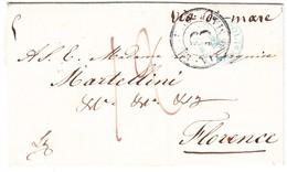 1882 Brief Aus Napoli über Livorno Nach Firenze Rückseitig Stempel Strada Ferrata - Italien