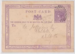 British Ceylon Ceylan Private Postal Stationery Coffee George Wall - Entier Postal Privé Café Colombo Pour Deltota 1873 - Ceylon (...-1947)