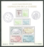 FRANCE MNH ** F5226 Bloc Orphelins De Guerre Salon Philex Paris 2018 - Neufs