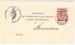 1891 Amtsbrief Aus Rom Nach Bracciano; Minim Fleckig - 1878-00 Humbert I.