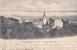 Suisse, Walzenhausen, Kirche Mit Hotel Rheinburg (pk50436) - Suisse