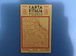 CARTINA GEOGRAFICA PRIMI 900 TOURING CLUB - FOGLIO 8 - ROMA NAPOLI FOGGIA POTENZA - Europa