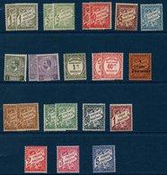 MON 1946/57  Lot De Timbres Taxe  Entre    N°YT 1 Et 26  ** MNH - Segnatasse