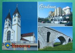 City Of JAKOVA, Catholic Church, Roman Bridge, Hotel Pashtrik, Kosovo (Serbia) New Postcards - Kosovo
