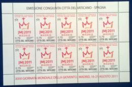 Vaticano 2011 Sass. 1560 Minifoglio Da 10 **/MNH VF - Blocs & Feuillets