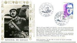 Thème Général De Gaulle - Bureau Temporaire Montcornet Du 19 & 20 Mai 1990 - X 340 - De Gaulle (General)
